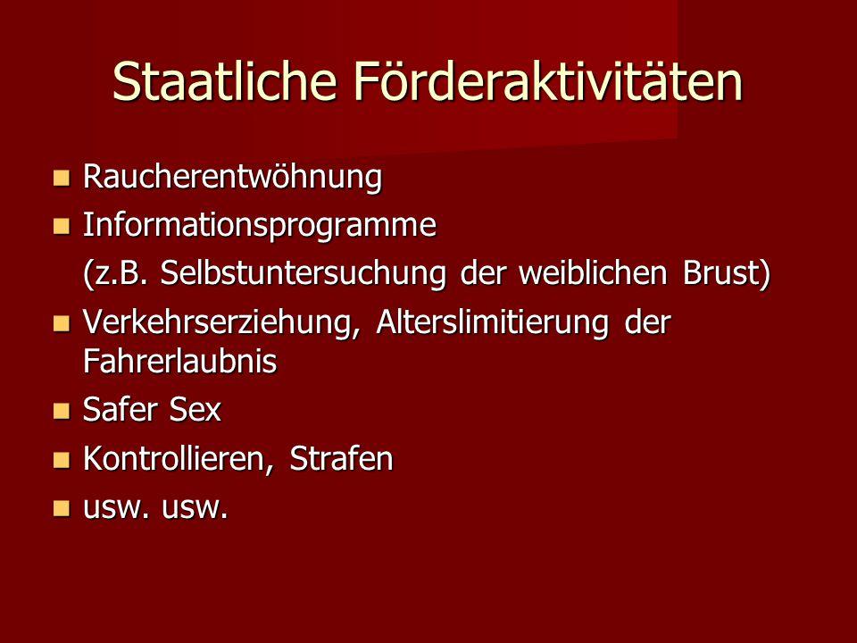 Staatliche Förderaktivitäten