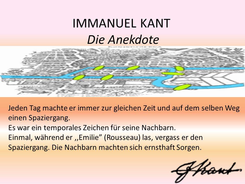 IMMANUEL KANT Die Anekdote