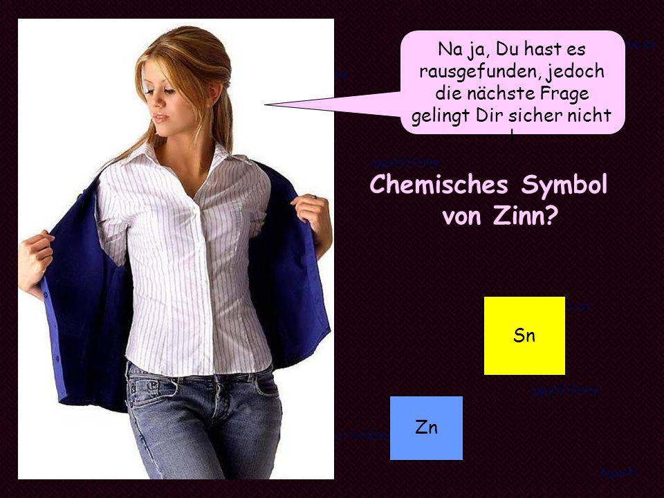 Chemisches Symbol von Zinn