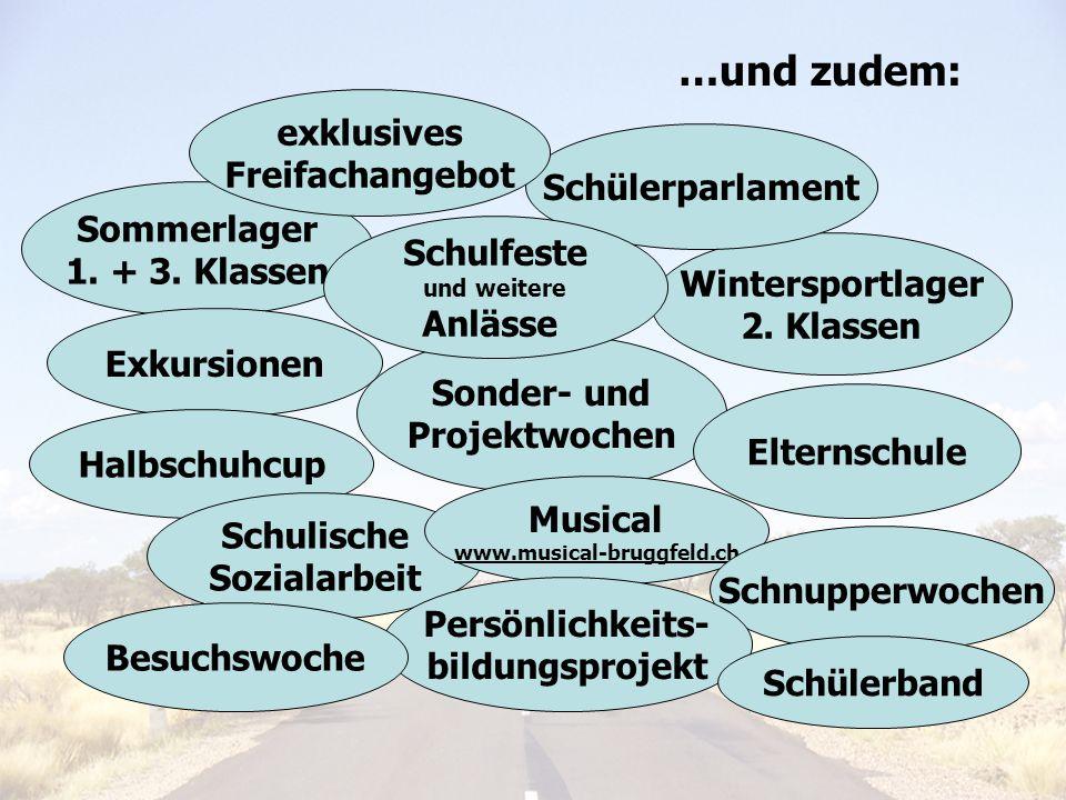 …und zudem: exklusives Freifachangebot Schülerparlament Sommerlager