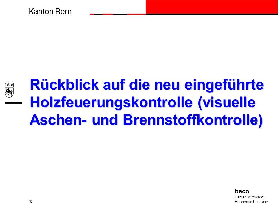 Einführung der Holzfeuerungskontrolle im Kanton Bern gegen die unerlaubte Abfallverbrennung