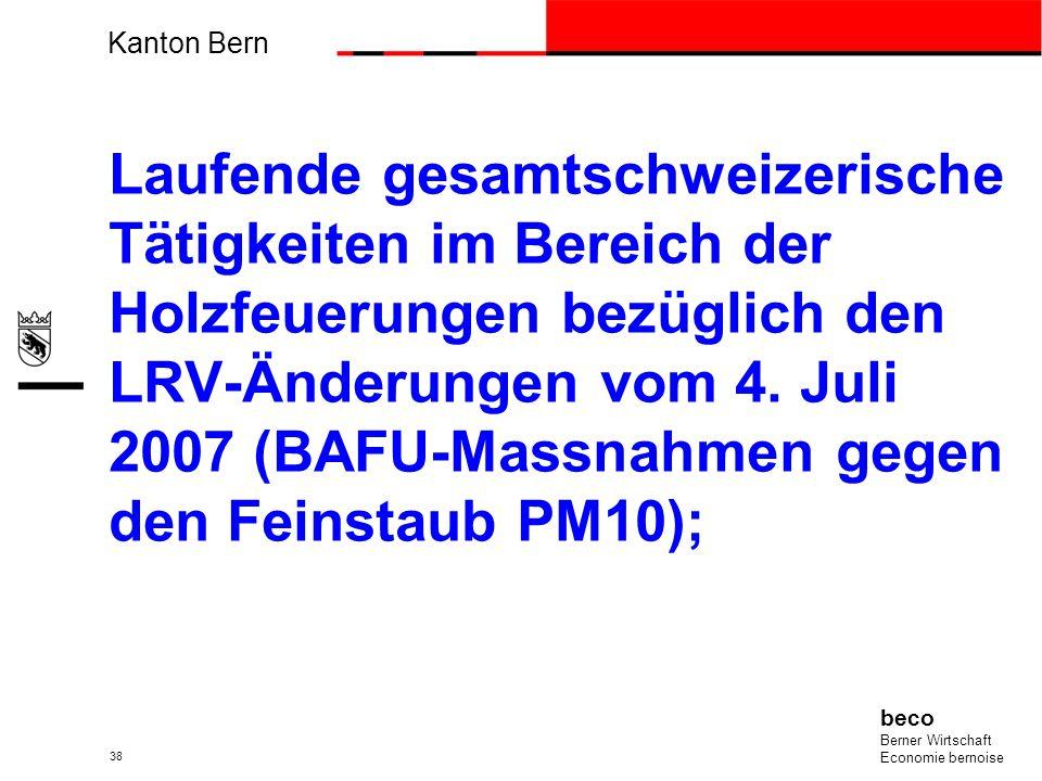 Cercl'Air-Arbeitsgruppe «Holzfeuerungen / LRV-Revision 2007»