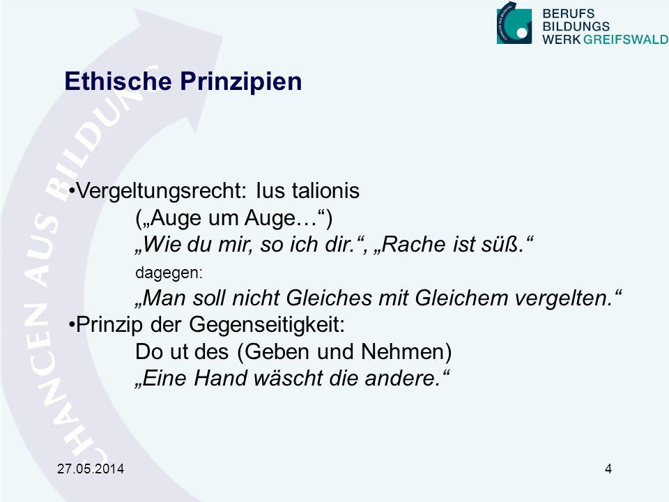 """Ethische Prinzipien Vergeltungsrecht: Ius talionis (""""Auge um Auge… )"""