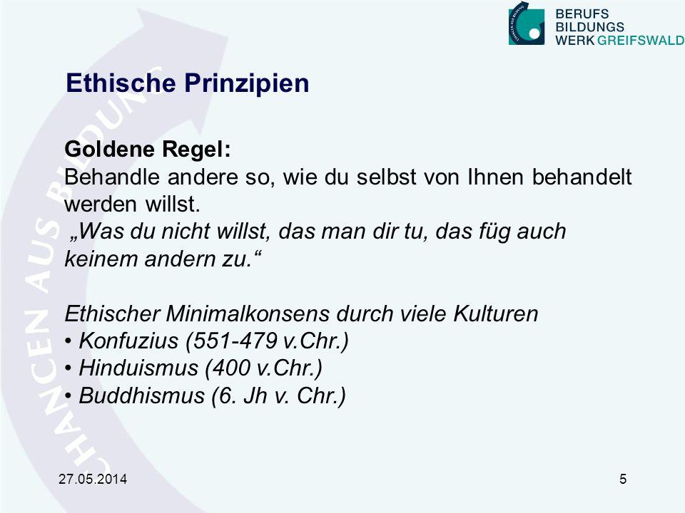 Ethische Prinzipien Goldene Regel: