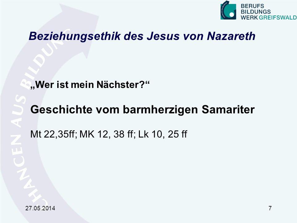 Beziehungsethik des Jesus von Nazareth