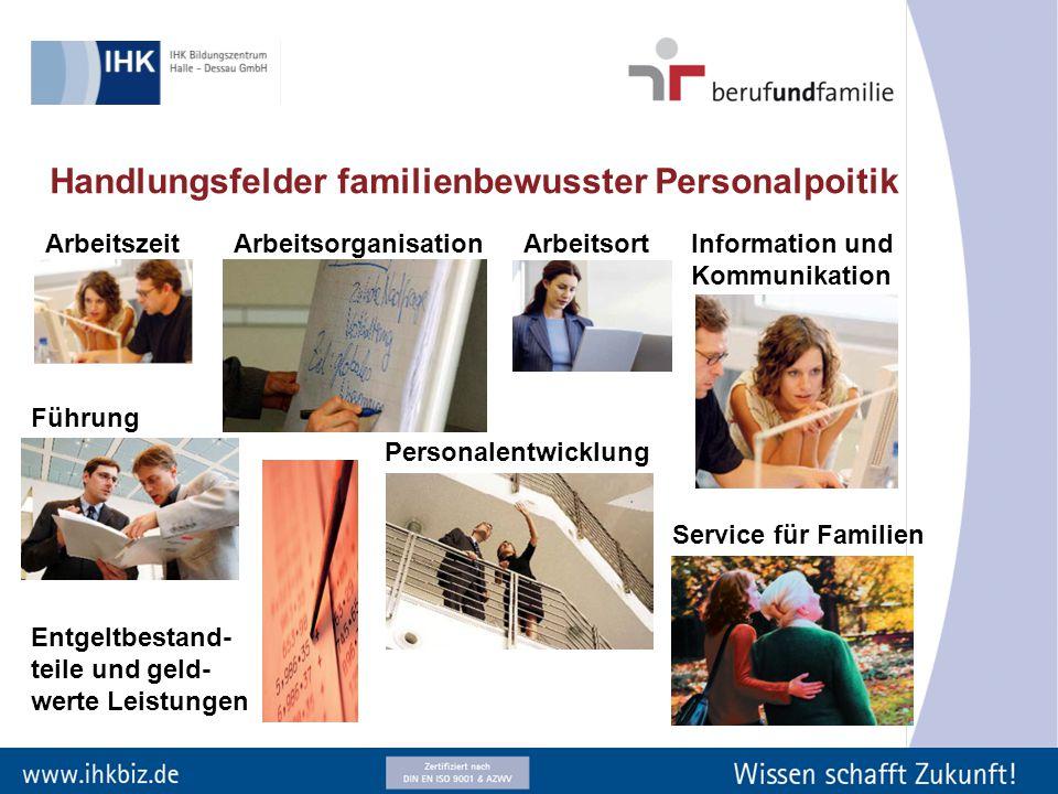 Handlungsfelder familienbewusster Personalpoitik