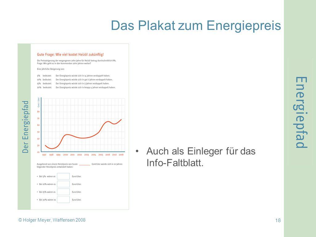Das Plakat zum Energiepreis
