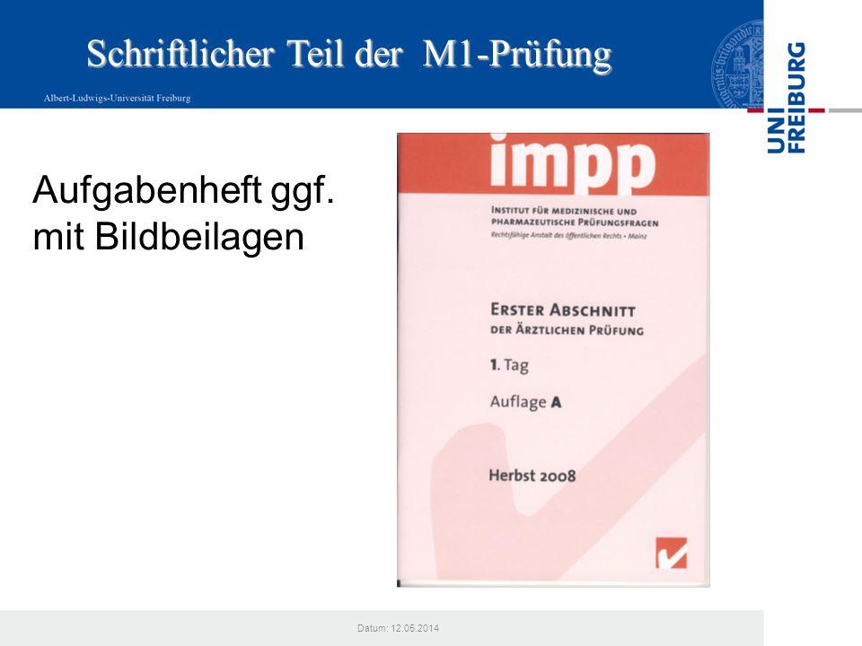 Schriftlicher Teil der M1-Prüfung
