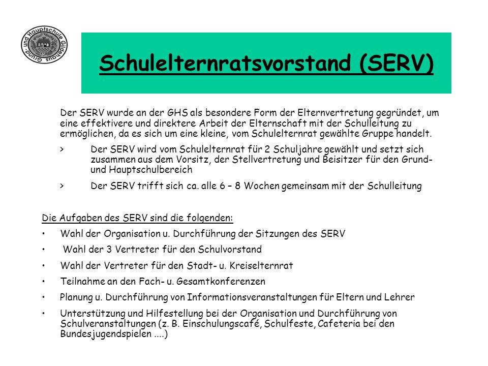 Schulelternratsvorstand (SERV)