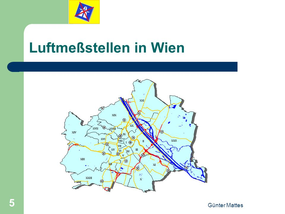 Luftmeßstellen in Wien