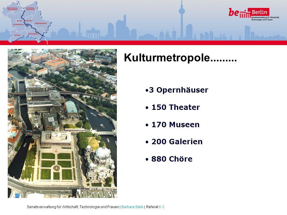 Kulturmetropole......... 3 Opernhäuser 150 Theater 170 Museen