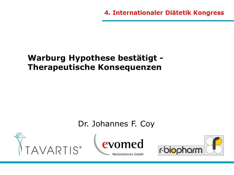 Warburg Hypothese bestätigt - Therapeutische Konsequenzen