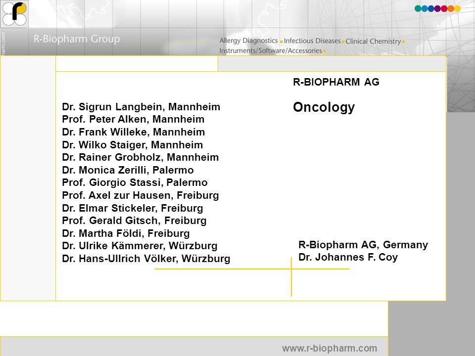 Oncology R-BIOPHARM AG Dr. Sigrun Langbein, Mannheim