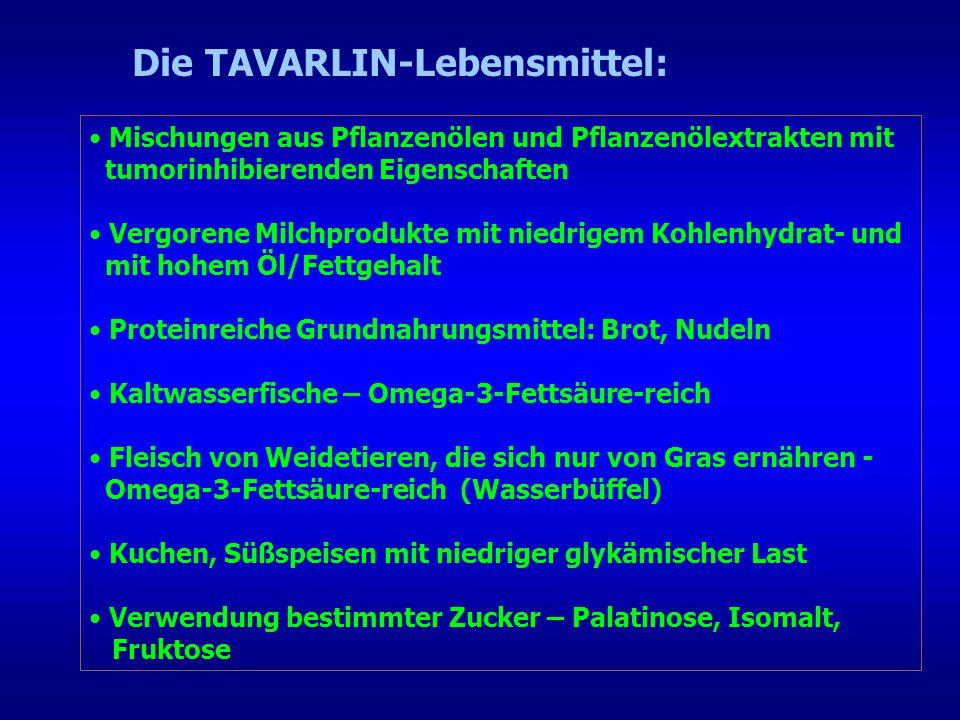 Die TAVARLIN-Lebensmittel: