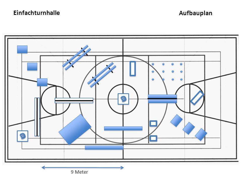 Einfachturnhalle Aufbauplan 9 Meter