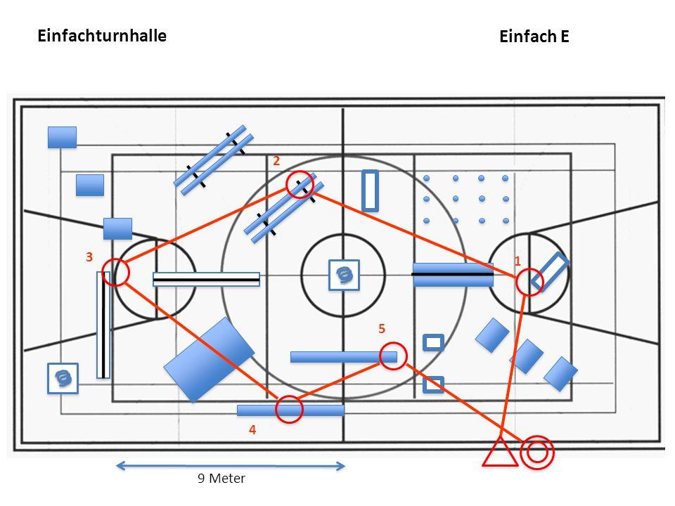 Einfachturnhalle Einfach E 2 3 1 5 4 9 Meter