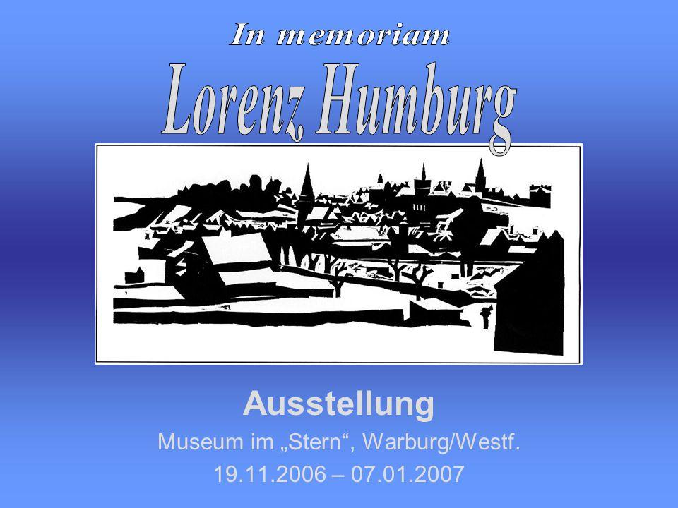 """Ausstellung Museum im """"Stern , Warburg/Westf. 19.11.2006 – 07.01.2007"""