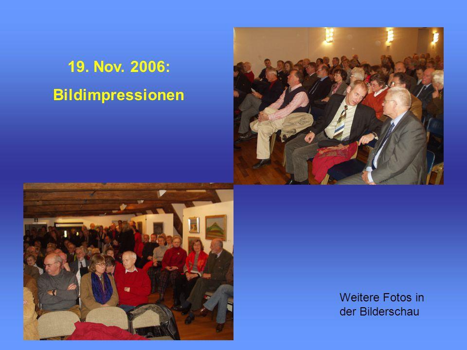 19. Nov. 2006: Bildimpressionen