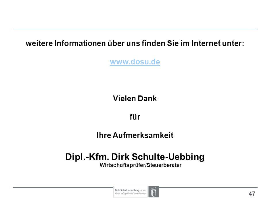Dipl.-Kfm. Dirk Schulte-Uebbing Wirtschaftsprüfer/Steuerberater