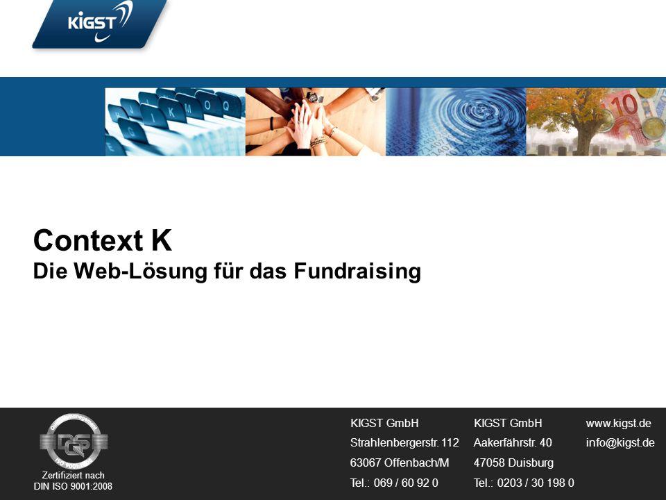 Context K Die Web-Lösung für das Fundraising