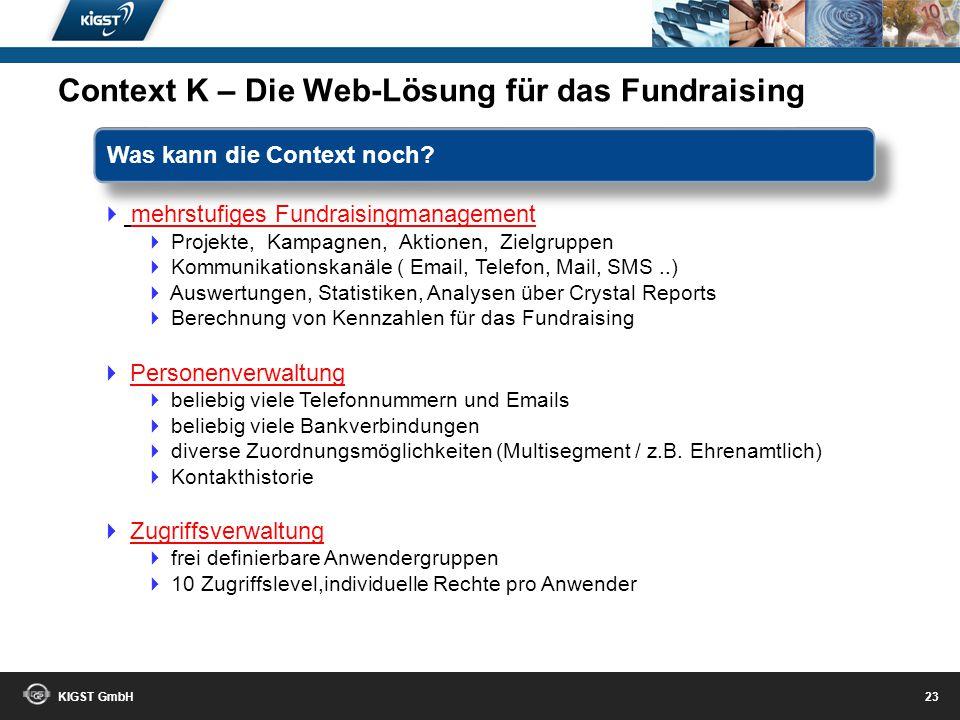 Context K – Die Web-Lösung für das Fundraising