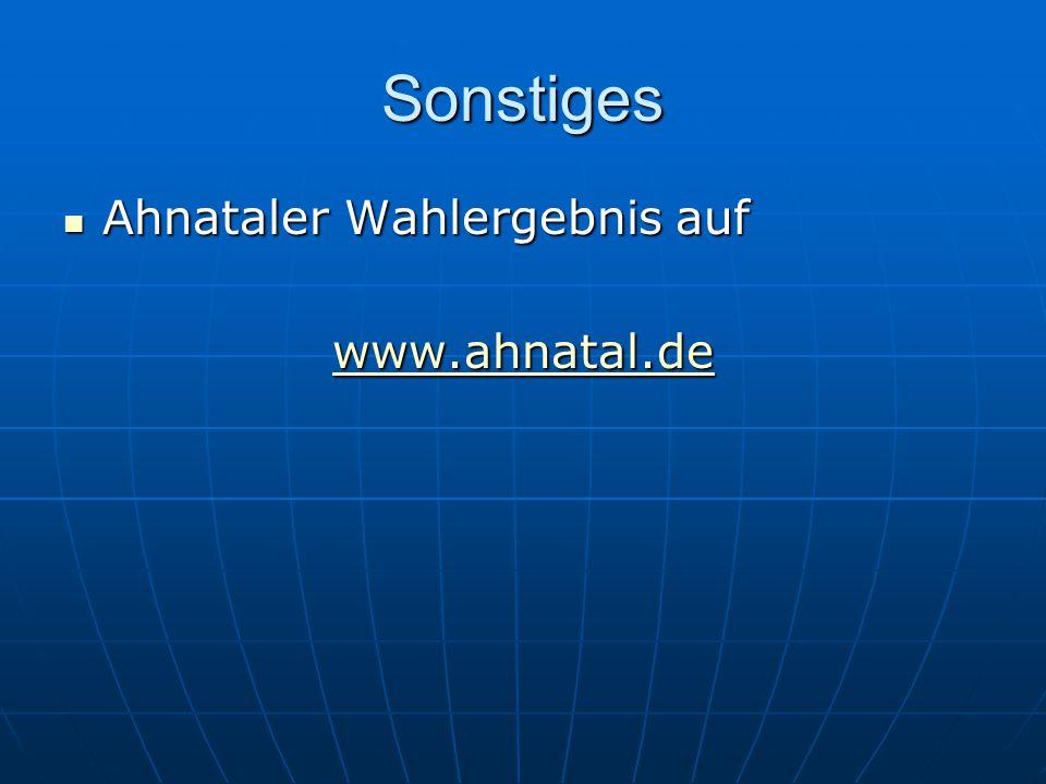 Sonstiges Ahnataler Wahlergebnis auf www.ahnatal.de
