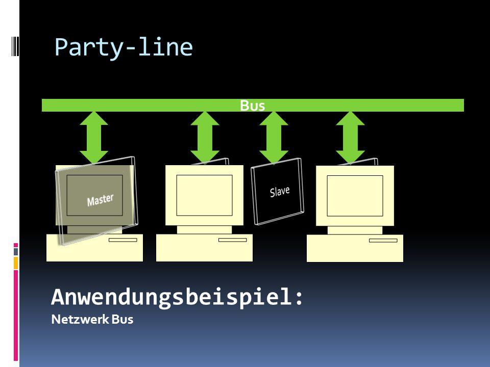 Party-line Bus Anwendungsbeispiel: Netzwerk Bus