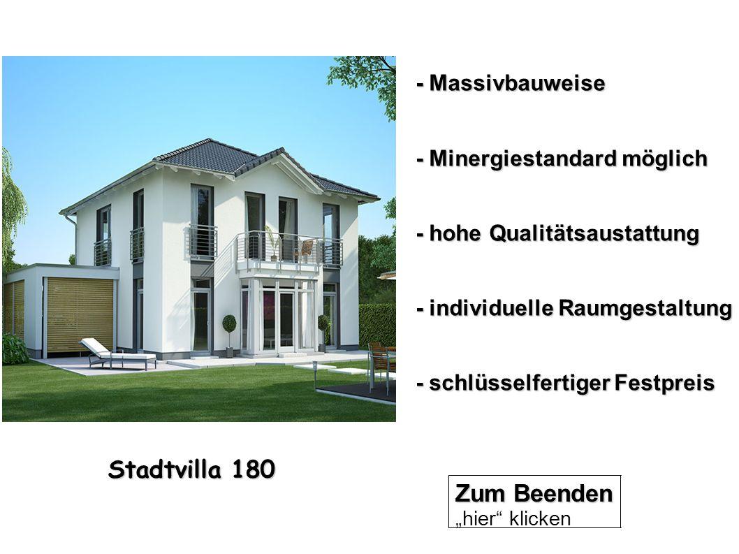 Stadtvilla 180 Zum Beenden - Massivbauweise - Minergiestandard möglich