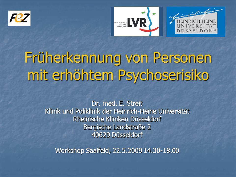 Früherkennung von Personen mit erhöhtem Psychoserisiko