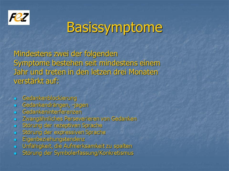 Basissymptome Mindestens zwei der folgenden