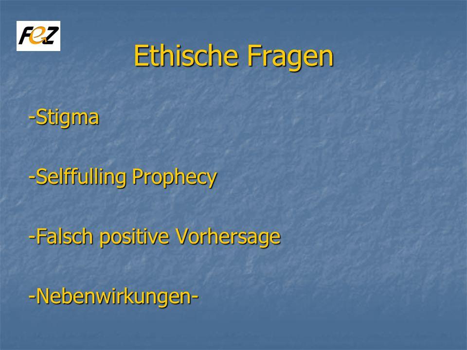 Ethische Fragen -Stigma -Selffulling Prophecy