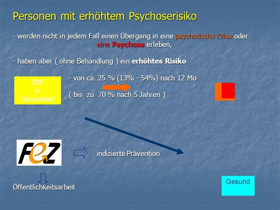 Personen mit erhöhtem Psychoserisiko