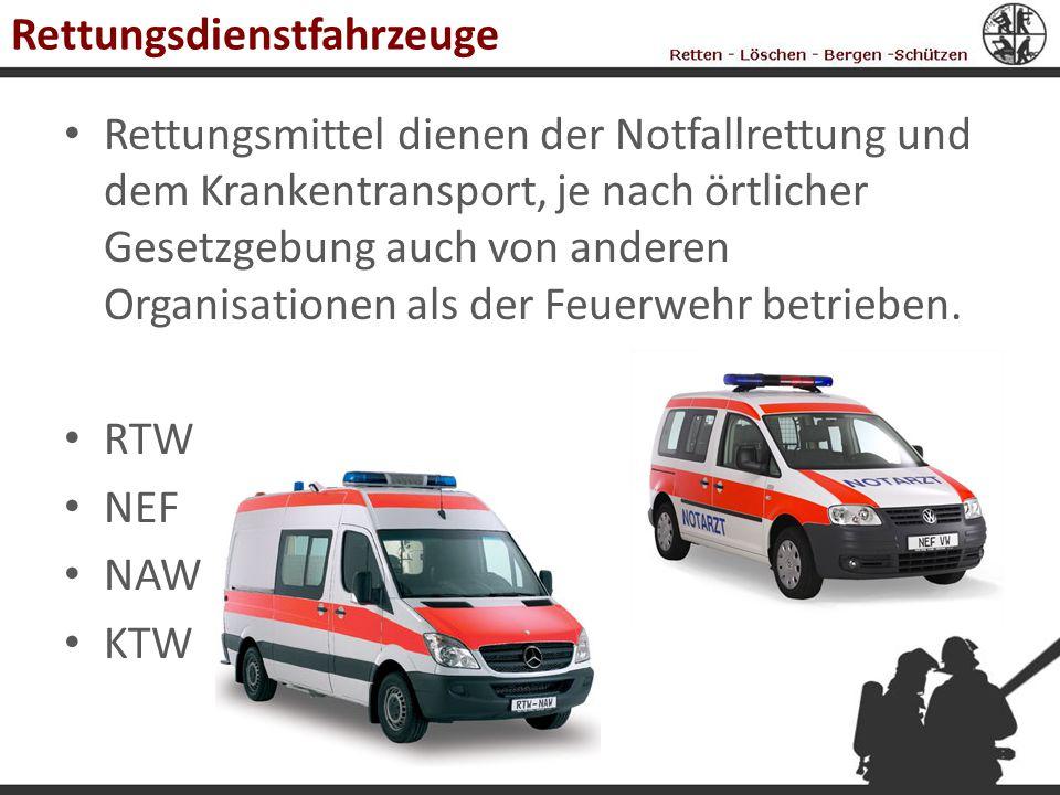 Rettungsdienstfahrzeuge