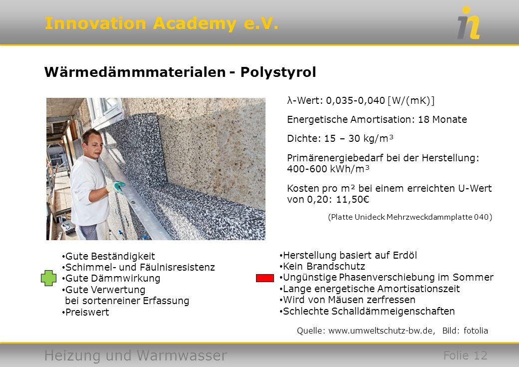 Wärmedämmmaterialen - Polystyrol