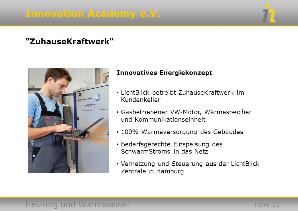 ZuhauseKraftwerk Innovatives Energiekonzept