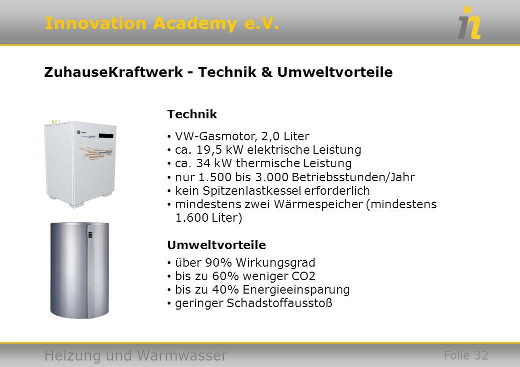 ZuhauseKraftwerk - Technik & Umweltvorteile