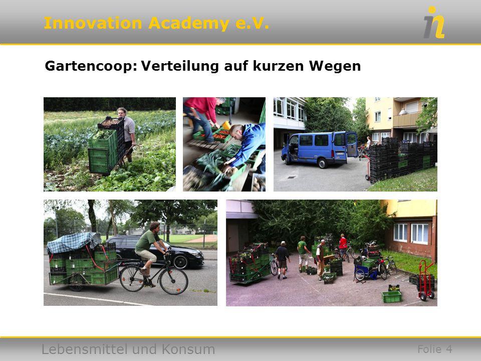 Gartencoop: Verteilung auf kurzen Wegen