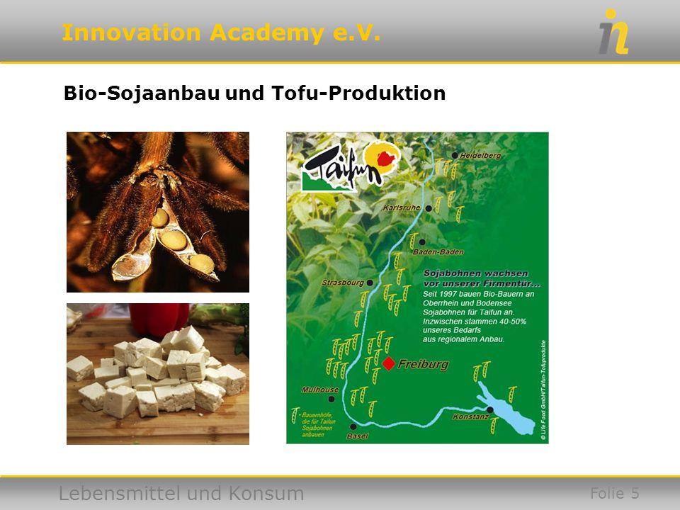 Bio-Sojaanbau und Tofu-Produktion