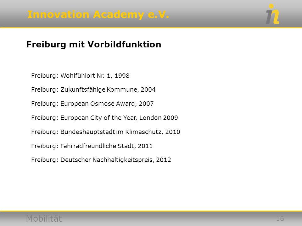 Freiburg mit Vorbildfunktion