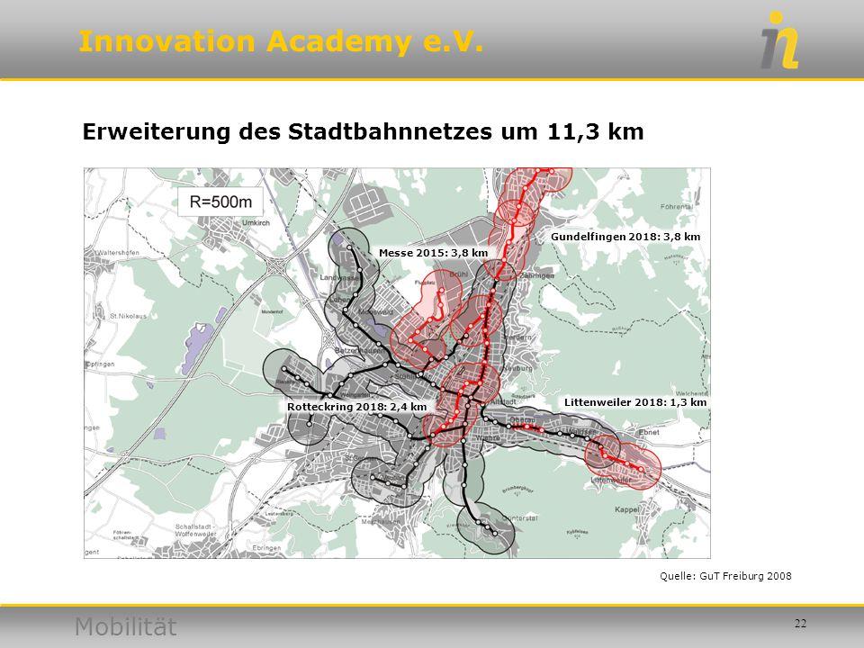 Erweiterung des Stadtbahnnetzes um 11,3 km