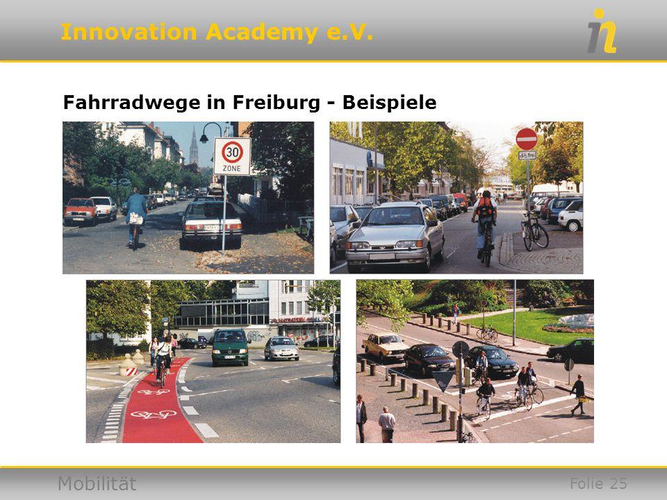 Fahrradwege in Freiburg - Beispiele