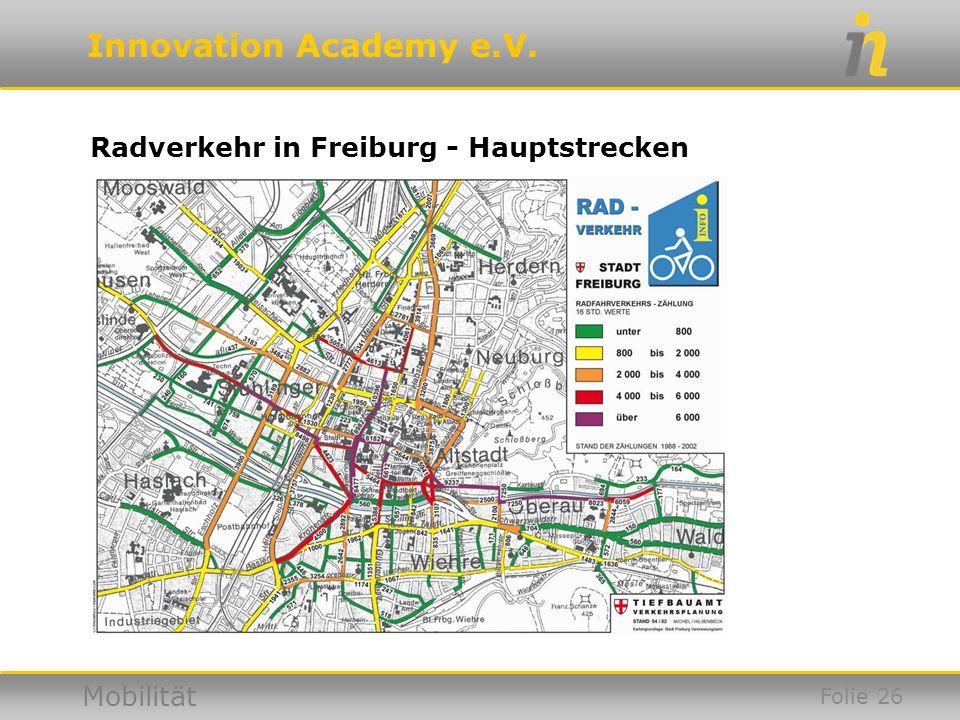Radverkehr in Freiburg - Hauptstrecken