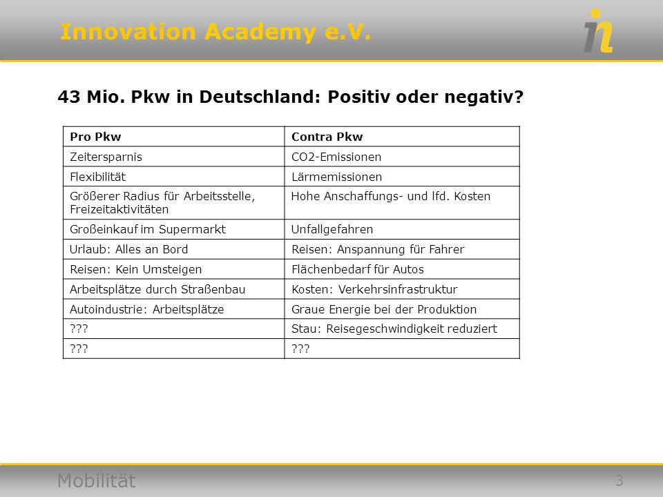 43 Mio. Pkw in Deutschland: Positiv oder negativ