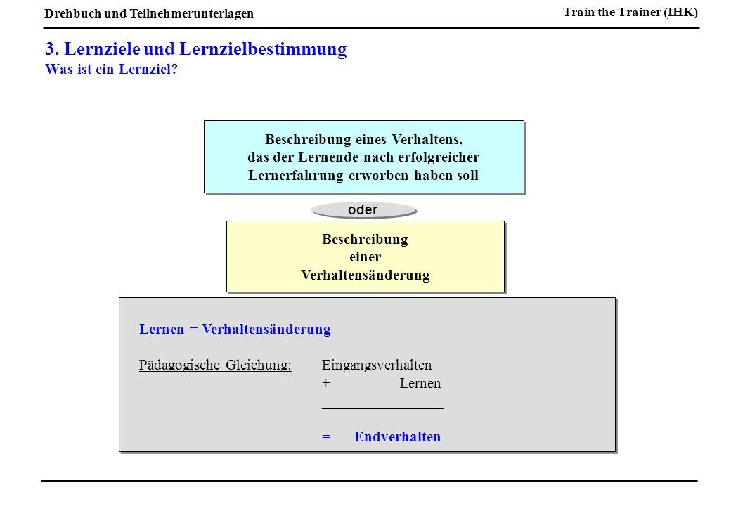 3. Lernziele und Lernzielbestimmung Was ist ein Lernziel