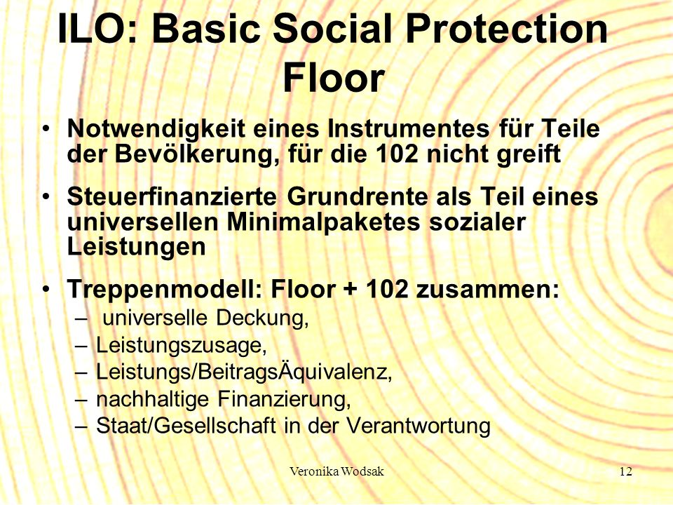 ILO: Basic Social Protection Floor
