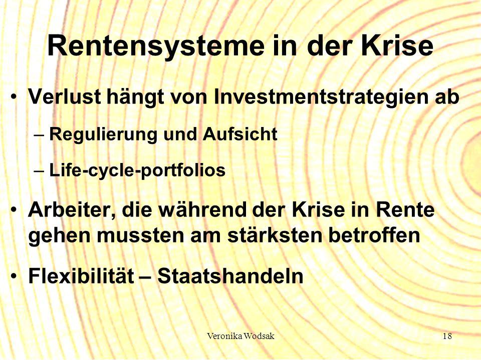 Rentensysteme in der Krise