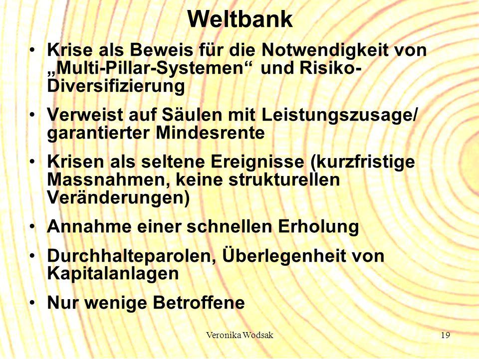"""Weltbank Krise als Beweis für die Notwendigkeit von """"Multi-Pillar-Systemen und Risiko-Diversifizierung."""