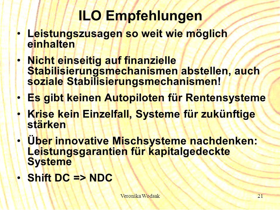 ILO Empfehlungen Leistungszusagen so weit wie möglich einhalten