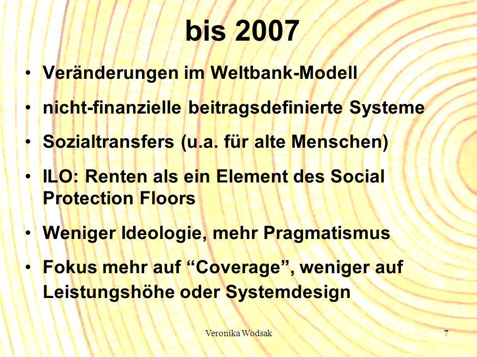 bis 2007 Veränderungen im Weltbank-Modell