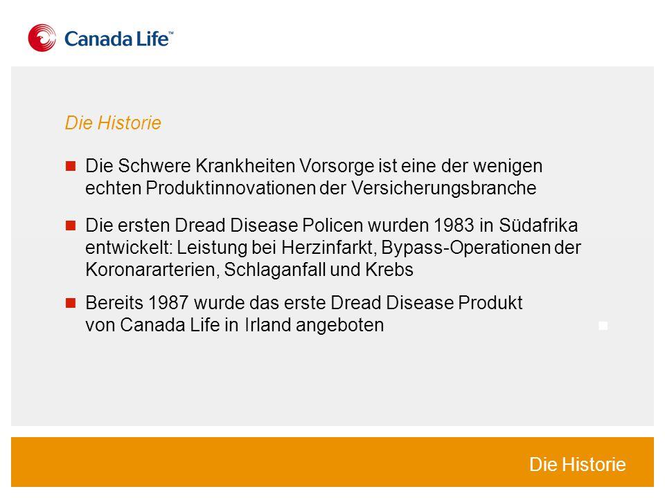 Die Historie Die Schwere Krankheiten Vorsorge ist eine der wenigen echten Produktinnovationen der Versicherungsbranche.